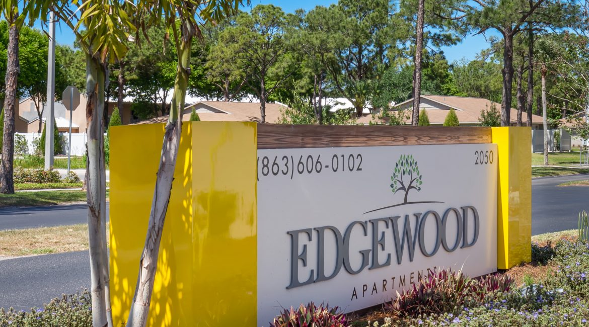 front sign edgewood apartments